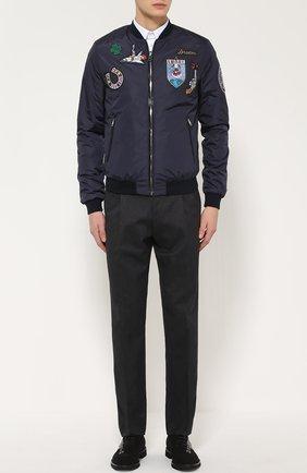 Хлопковые брюки прямого кроя   Фото №2