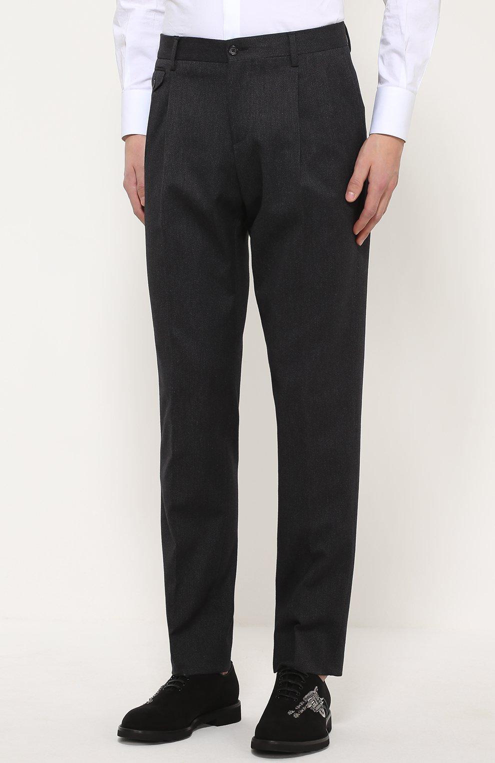 Хлопковые брюки прямого кроя   Фото №3