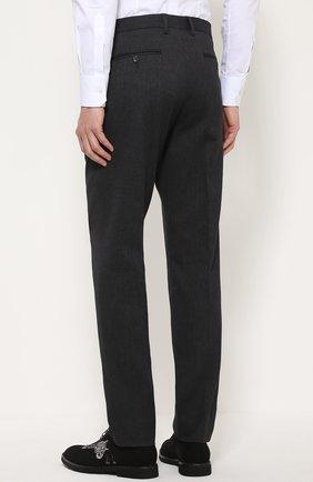 Хлопковые брюки прямого кроя   Фото №4