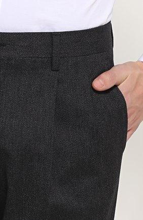 Хлопковые брюки прямого кроя   Фото №5
