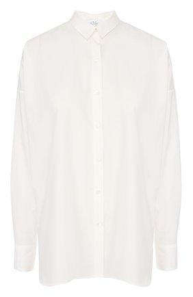 Удлиненная блуза прямого кроя со спущенным рукавом | Фото №1