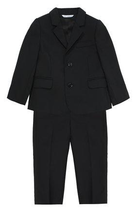 Детский классический костюм из шерсти DOLCE & GABBANA черного цвета, арт. 0131/L11U17/FUBBG | Фото 1