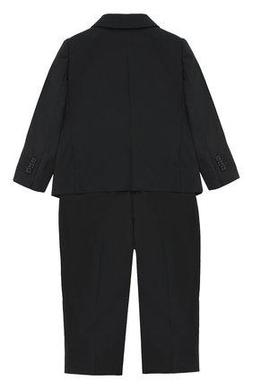 Детский классический костюм из шерсти DOLCE & GABBANA черного цвета, арт. 0131/L11U17/FUBBG | Фото 2