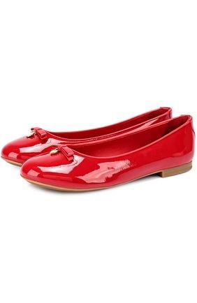 Детские лаковые балетки DOLCE & GABBANA красного цвета, арт. 0132/D10341/A1328/29-36 | Фото 1