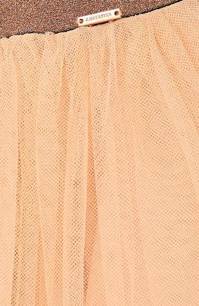 Детская многоярусная пышная юбка Jean Paul Gaultier розового цвета | Фото №1