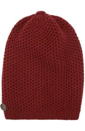 Женская кашемировая шапка INVERNI бордового цвета, арт. 0097CM | Фото 1