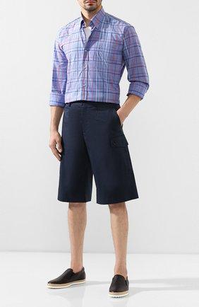 Мужские кожаные слипоны TOD'S темно-синего цвета, арт. XXM0TV0K900NLK | Фото 2