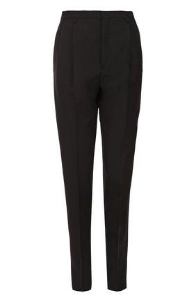 Шерстяные брюки с защипами   Фото №1