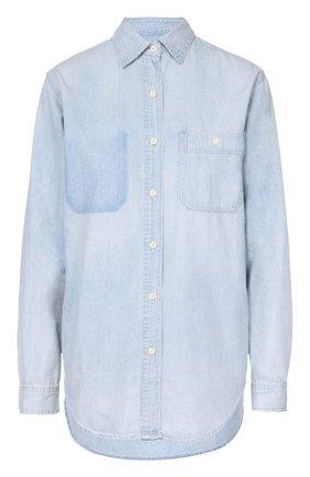 Женская джинсовая блуза прямого кроя с накладным карманом Denim&Supply by Ralph Lauren, цвет голубой, арт. W16/B0YL1/147DS в ЦУМ   Фото №1