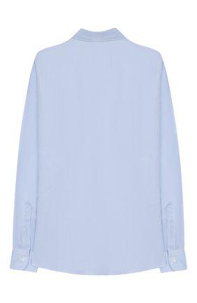 Детская хлопковая рубашка с воротником кент DAL LAGO голубого цвета, арт. N402/7317/7-12 | Фото 2