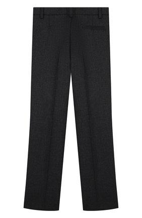 Детские шерстяные брюки прямого кроя Dal Lago темно-серого цвета | Фото №1