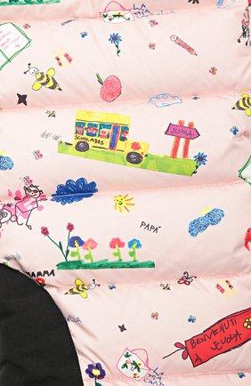 Детские утепленный комбинезон с принтом Dolce & Gabbana розового цвета   Фото №2
