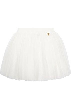 Многослойная юбка с декором | Фото №1