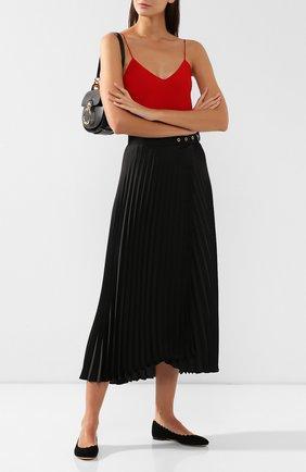 Женские замшевые балетки lauren CHLOÉ черного цвета, арт. CH24160/E01 | Фото 2