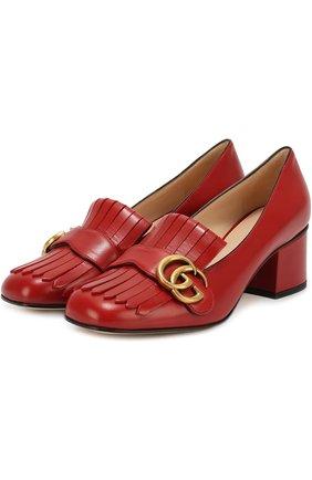 Кожаные туфли Marmont с пряжкой | Фото №1