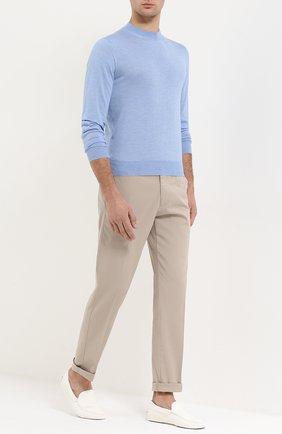 Мужские кожаные мокасины gommini TOD'S белого цвета, арт. XXM0GW0S570NLK | Фото 2