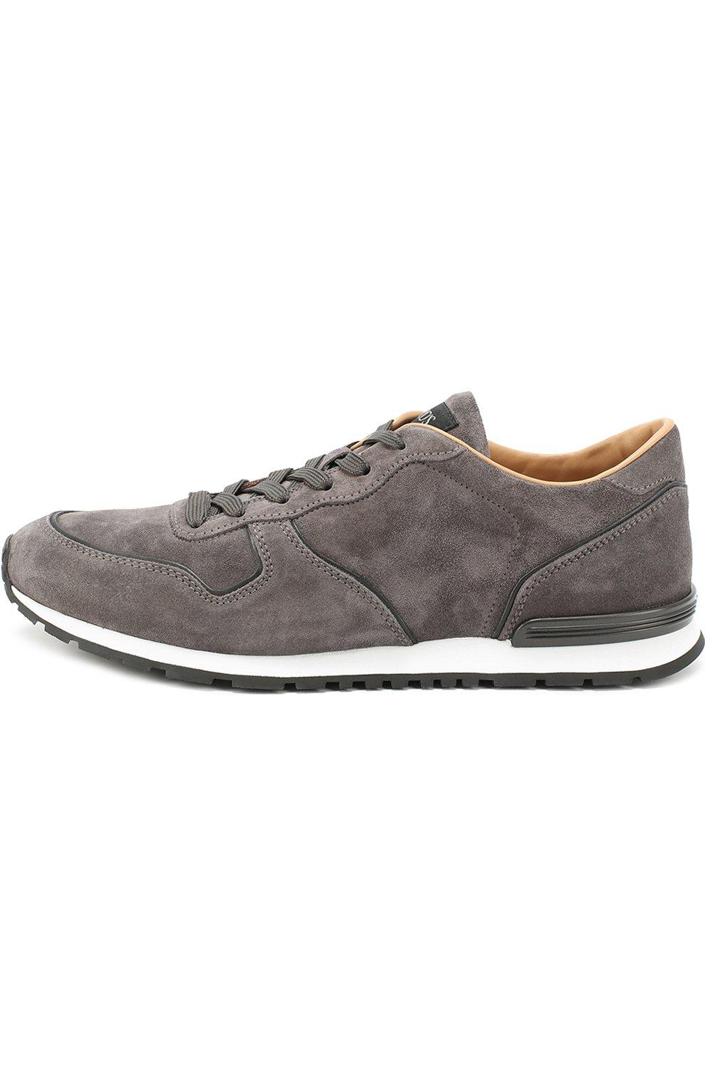 Замшевые кроссовки на шнуровке Tod's серые | Фото №3