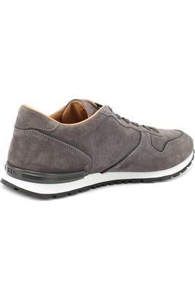 Замшевые кроссовки на шнуровке Tod's серые | Фото №4