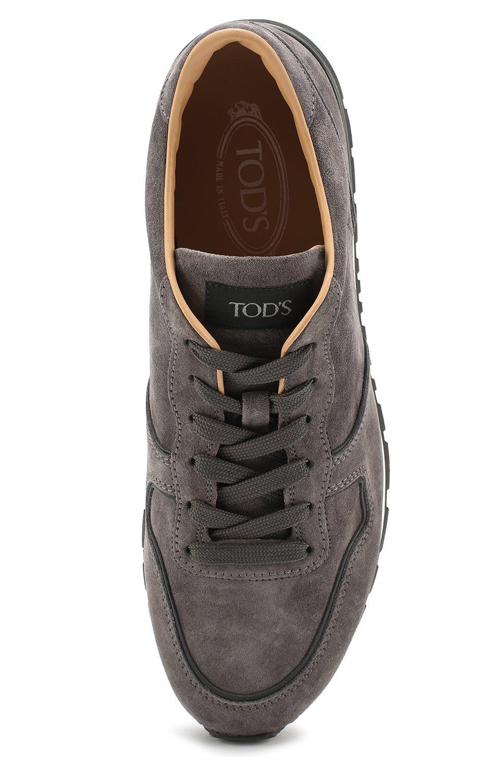 Замшевые кроссовки на шнуровке Tod's серые | Фото №5