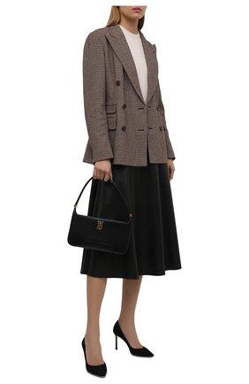 Женская замшевые туфли romy 85 JIMMY CHOO черного цвета, арт. R0MY 85/SUE | Фото 2