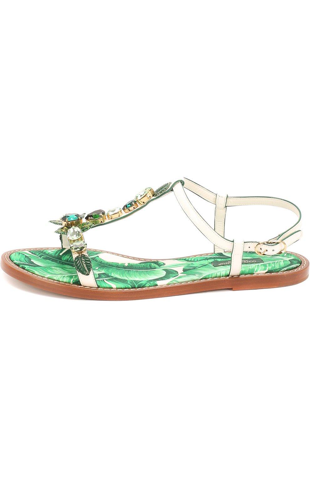 Кожаные сандалии Portofino с кристаллами | Фото №2