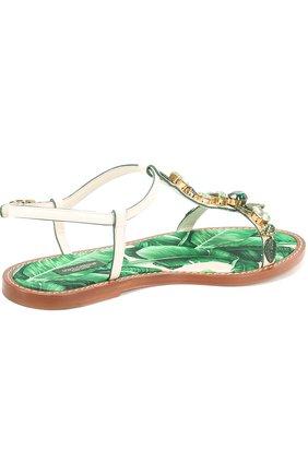 Кожаные сандалии Portofino с кристаллами | Фото №3