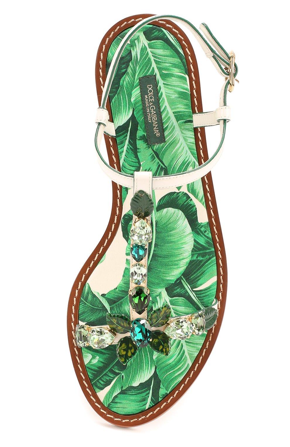 Кожаные сандалии Portofino с кристаллами | Фото №4