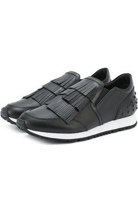 Кожаные кроссовки Sportivo с бахромой | Фото №1