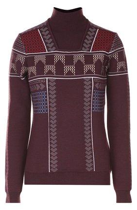 Шерстяной свитер с воротником-стойкой | Фото №1
