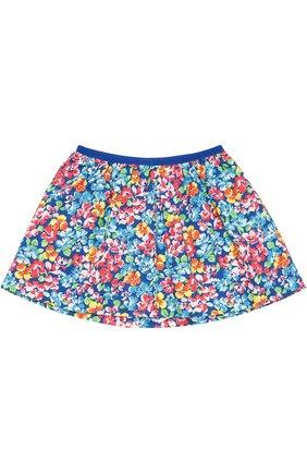 Хлопковая юбка с цветочным принтом   Фото №1