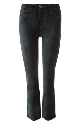 Укороченные бархатные джинсы   Фото №1
