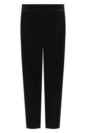 Женские укороченные брюки прямого кроя с завышенной талией ST. JOHN черного цвета, арт. K880W40 | Фото 1