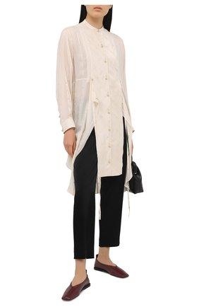 Женские укороченные брюки прямого кроя с завышенной талией ST. JOHN черного цвета, арт. K880W40 | Фото 2