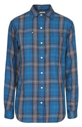 Женская хлопковая блуза в клетку с накладным карманом Denim&Supply by Ralph Lauren, цвет синий, арт. W04/RLRDN/SDFAZ в ЦУМ   Фото №1