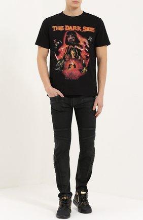 Хлопковая футболка с принтом Star Wars Elevenparis черная | Фото №1