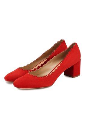 Замшевые туфли Lauren с фигурным вырезом   Фото №1