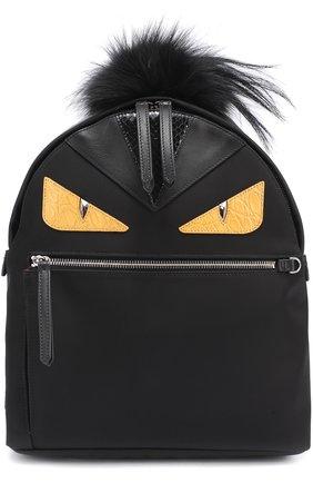 Рюкзак Bag Bugs с отделкой из меха и комбинированной кожи | Фото №1