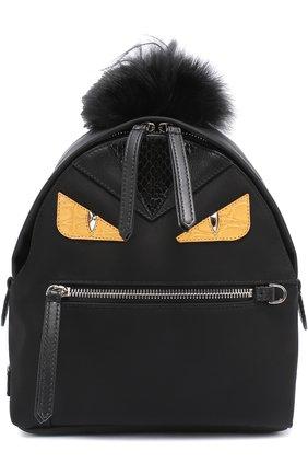 Рюкзак Bag Bugs Mini с отделкой из меха и комбинированной кожи | Фото №1