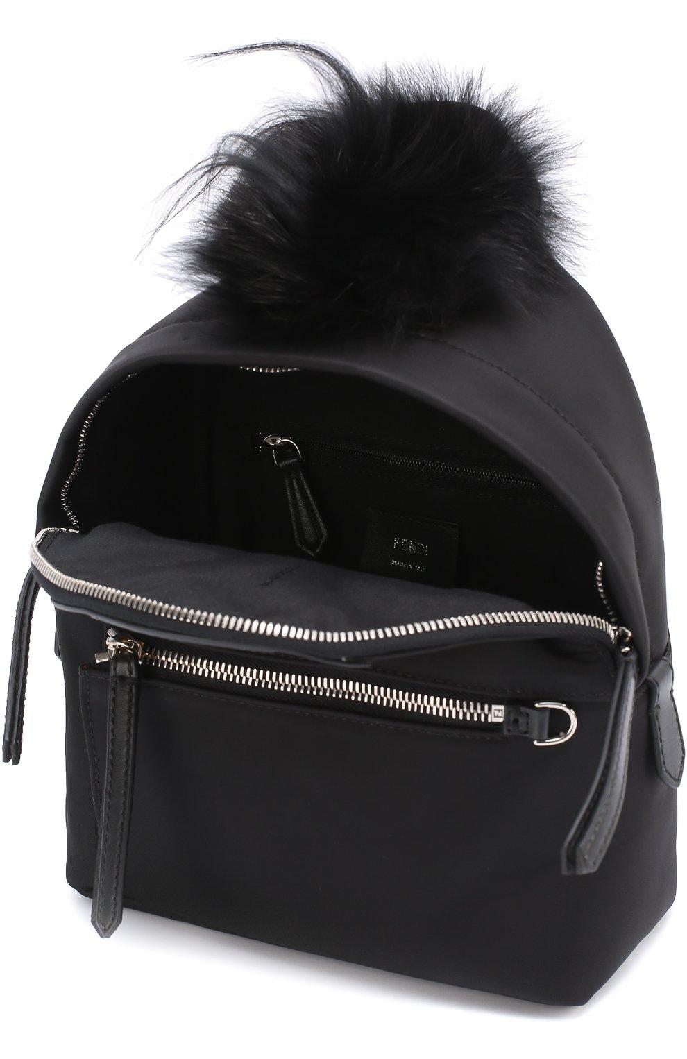 Рюкзак Bag Bugs Mini с отделкой из меха и комбинированной кожи | Фото №4