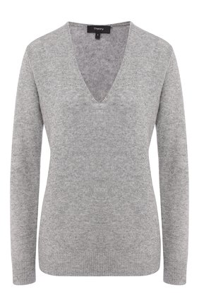 Женская кашемировый пуловер THEORY светло-серого цвета, арт. F1118701 | Фото 1