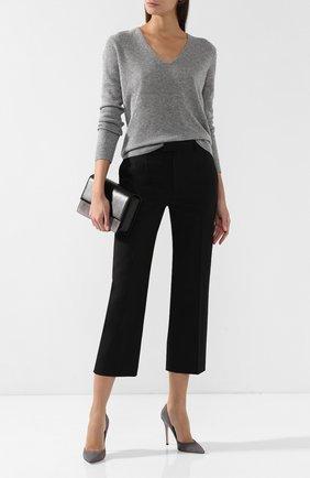 Женская кашемировый пуловер THEORY светло-серого цвета, арт. F1118701 | Фото 2