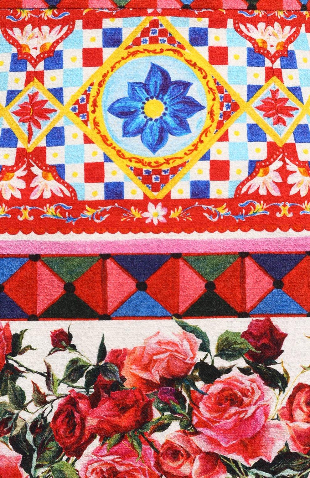 Хлопковая мини-юбка с ярким принтом Dolce & Gabbana разноцветная | Фото №5