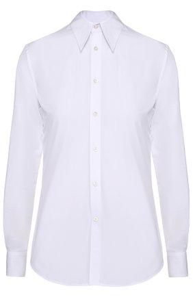 Приталенная хлопковая блуза   Фото №1