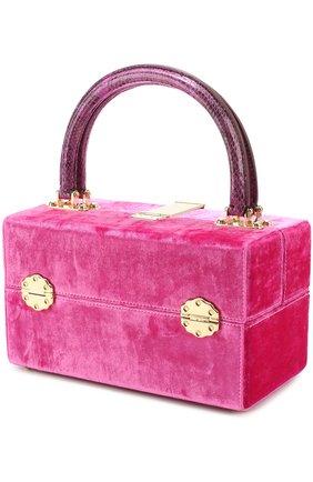 Сумка Dolce Box с отделкой бархатом Dolce & Gabbana фуксия цвета | Фото №3