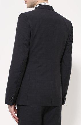 Шерстяной костюм-тройка Dolce & Gabbana темно-синий | Фото №4