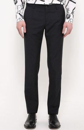 Шерстяной костюм-тройка Dolce & Gabbana темно-синий | Фото №7