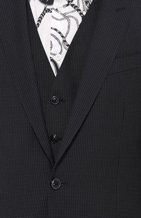 Шерстяной костюм-тройка Dolce & Gabbana темно-синий | Фото №9