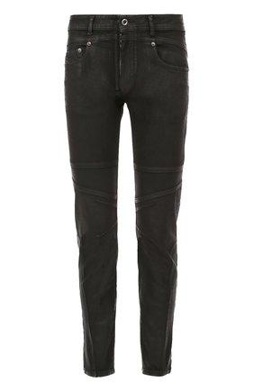 Зауженные джинсы с декоративной отделкой Diesel черные   Фото №1