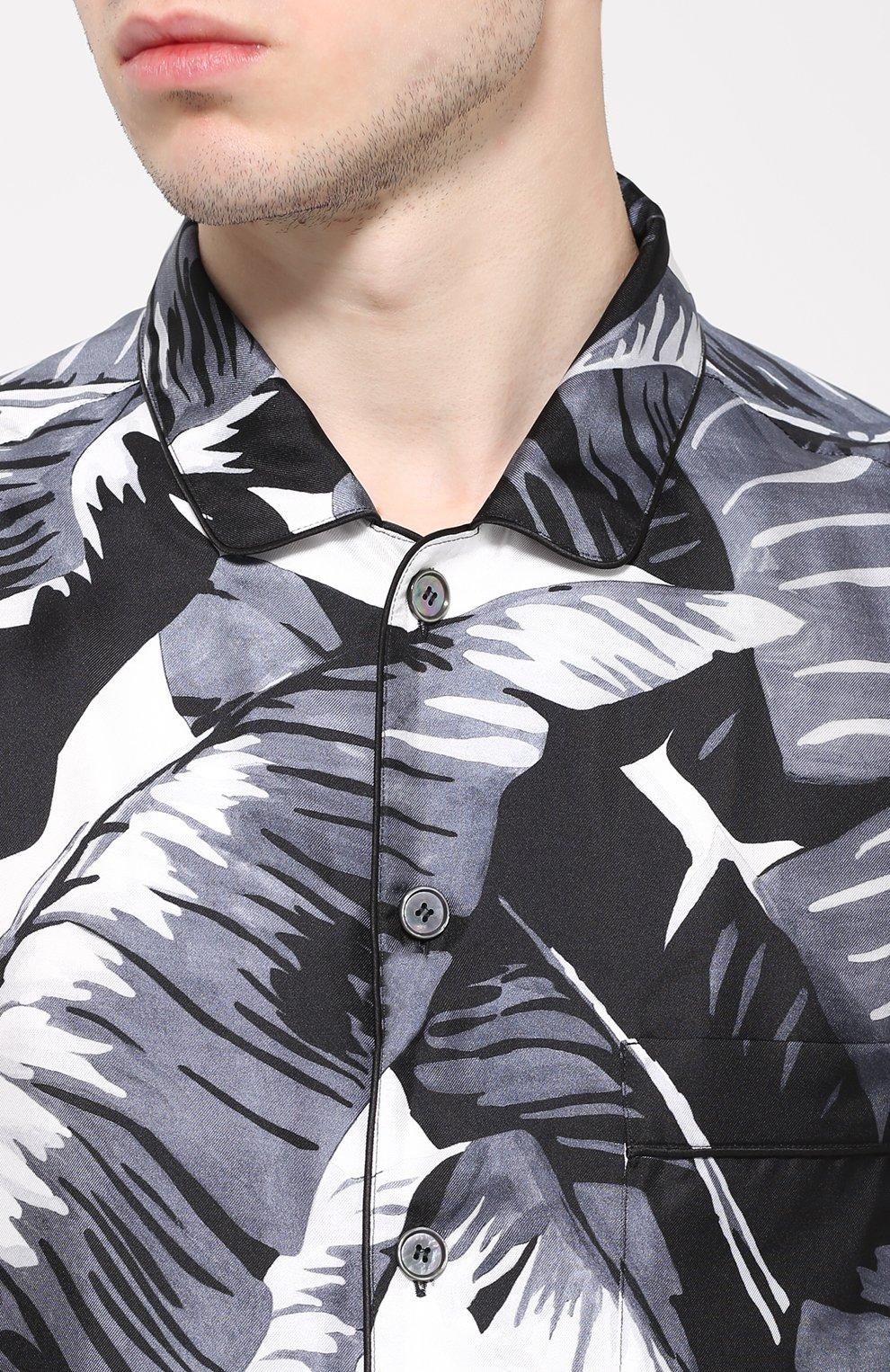 Шелковая сорочка с принтом | Фото №5