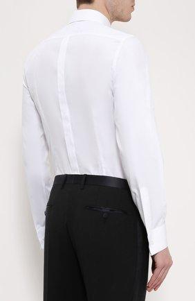 Хлопковая сорочка под смокинг Dolce & Gabbana белая | Фото №4